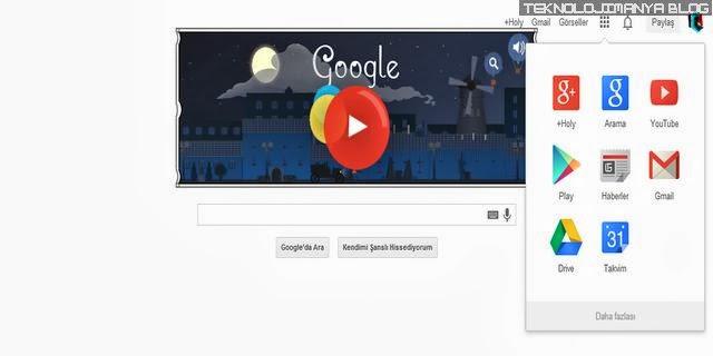 Google Yandex arayüzü