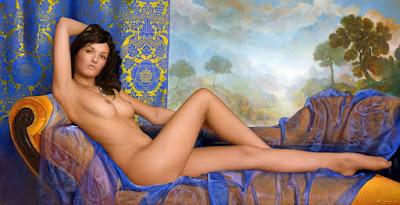 Desnudo Femenino Pintura Hiperrealismo