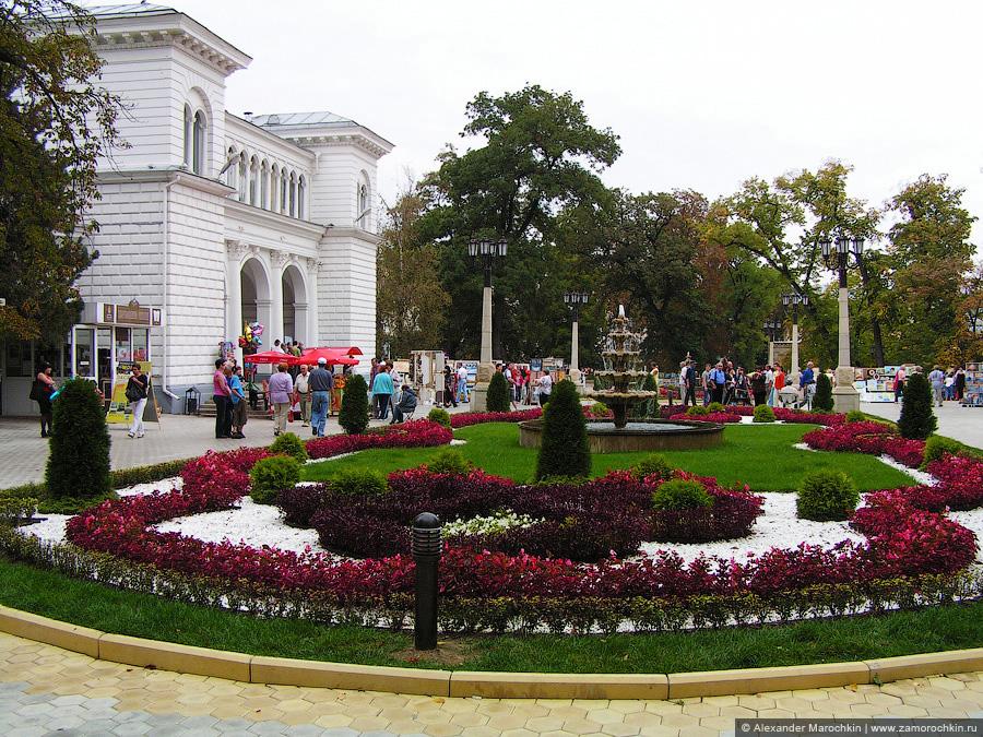Начало Курортного парка Кисловодска, главный вход