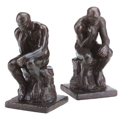 Rodin's The Thinker Bookends, Homebound Store, Glorietta 4