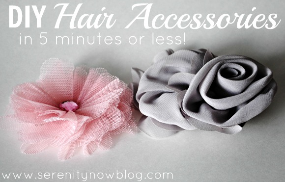 DIY Hair Accessories in 5 Minutes or Less, from Serenity Now