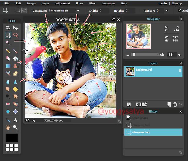 Cara Membuat Foto about me menjadi lingkaran