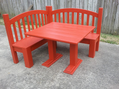 kids corner bench and table