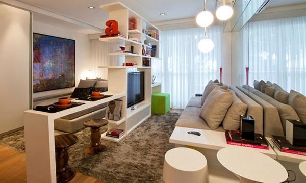 Como Decorar Sala Unica E Pequena ~ Bricolage e Decoração Como Decorar Quarto e Sala Conjungados num
