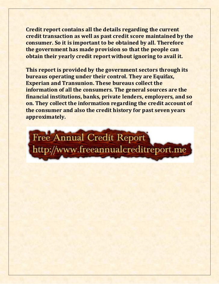 Yearly Credit Report Information  Annual Credit Report Dispute Form