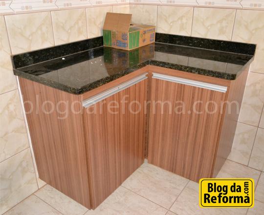 armário cozinha mdf granito verde