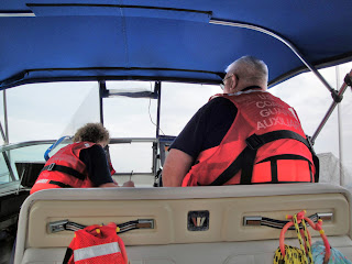 Melaine and Tom Paatz in Patrol Boat