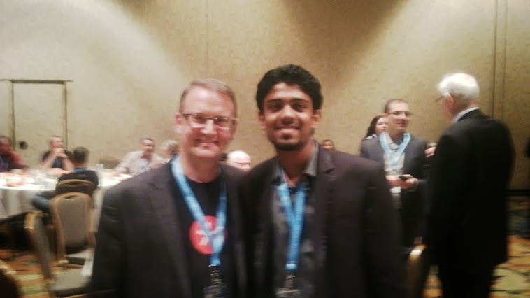 With Alec Saunders, VP developer relations -Blackberry