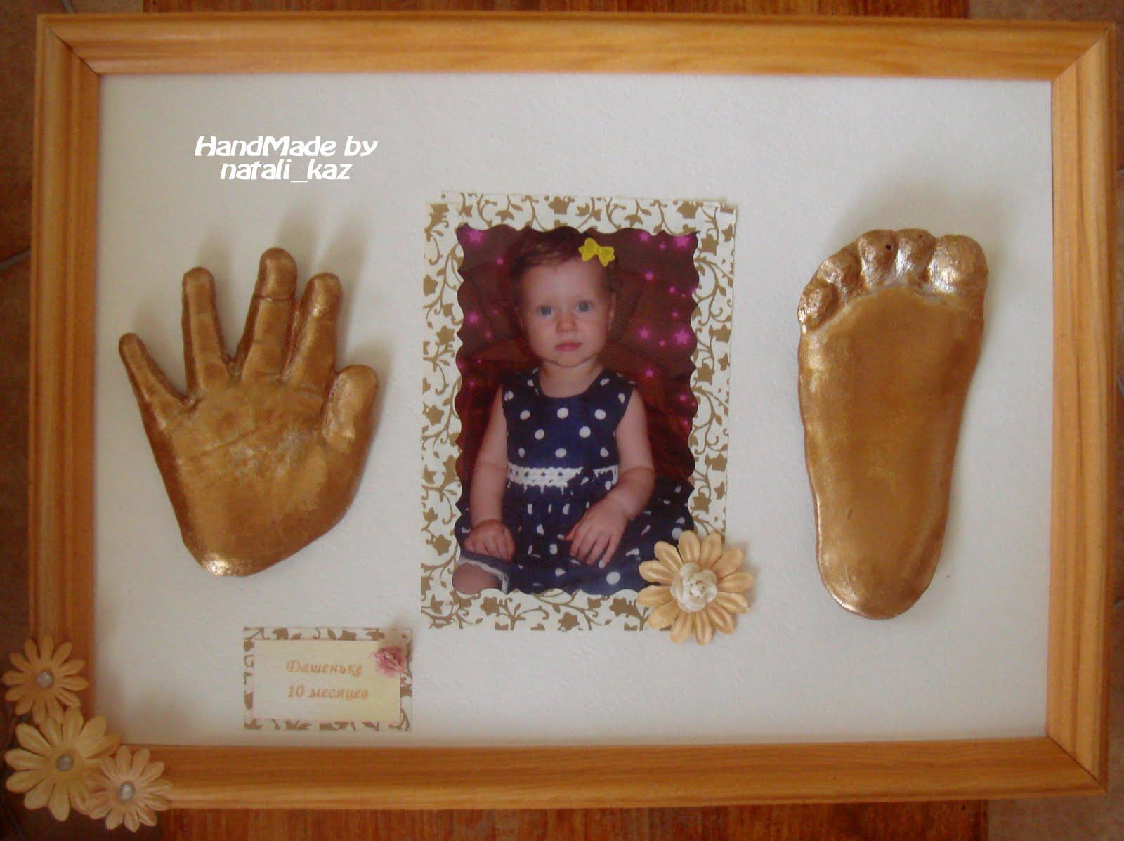 Отпечаток ноги ребенка своими руками 685