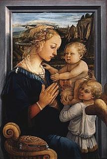 Filippo Lippi - Vierge à l'enfant et deux anges