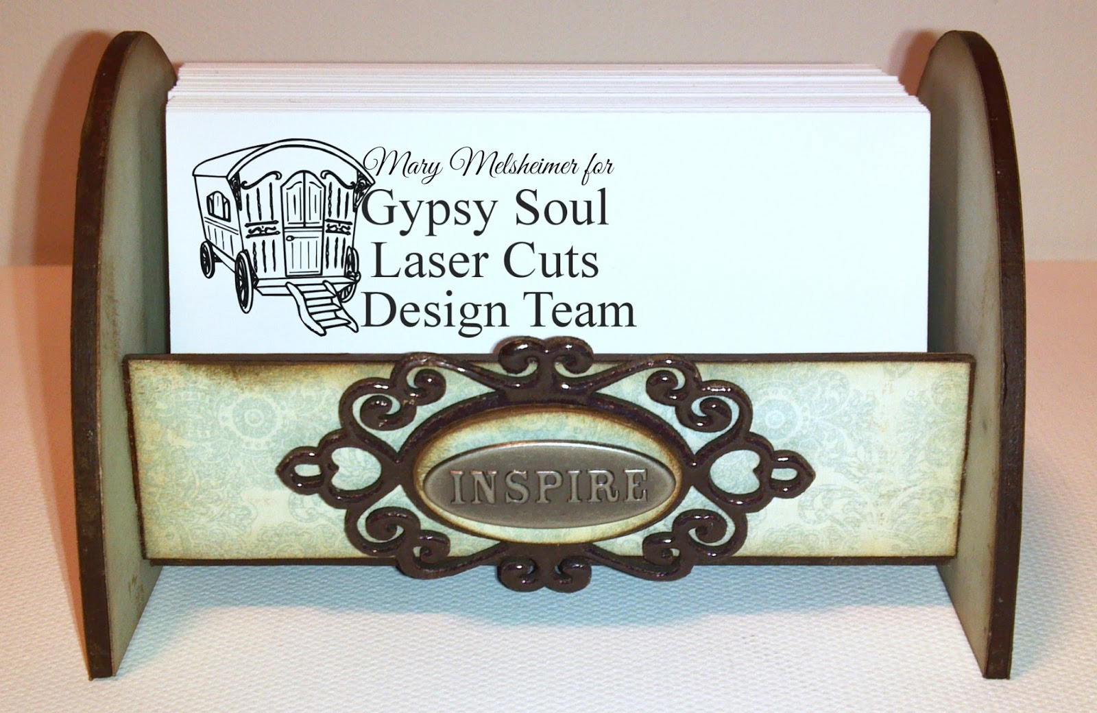 Gypsy Soul Laser Cuts: Business Card Holder by Mary