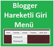 Blogger Hareketli Gri Navigation Menü