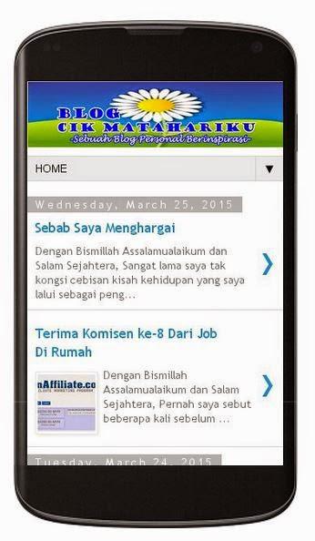 Gambar Blog Sendiri Dalam Versi Mobile