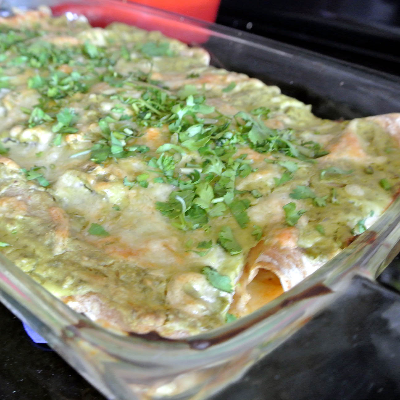 Mom, What's For Dinner?: Chicken Avocado Cream Enchiladas