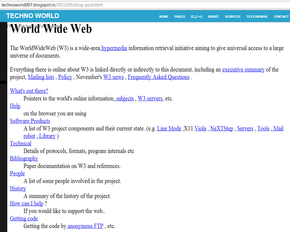 World wide web research paper