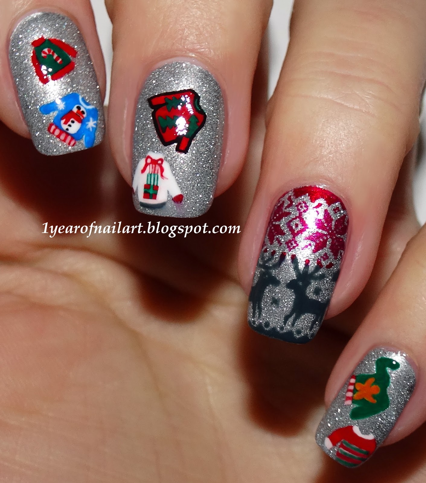 365 days of nail art seven super sweaters prinsesfo Gallery