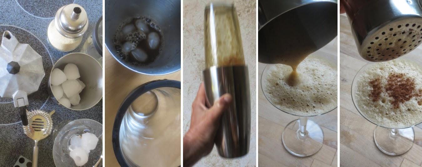 Zubereitung Caffè Shakerato