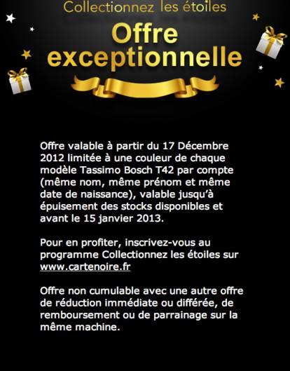 miss bons plans termin tassimo t42 gratuite le 17 d cembre 2012. Black Bedroom Furniture Sets. Home Design Ideas