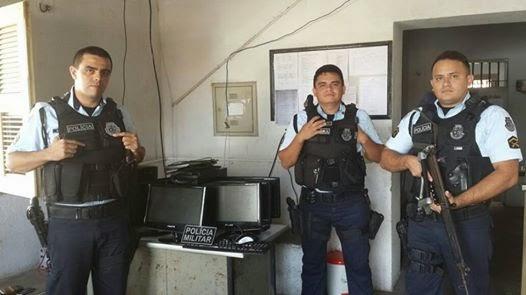 Polícia de Reriutaba encontra parte dos objetos furtados de escola da cidade.