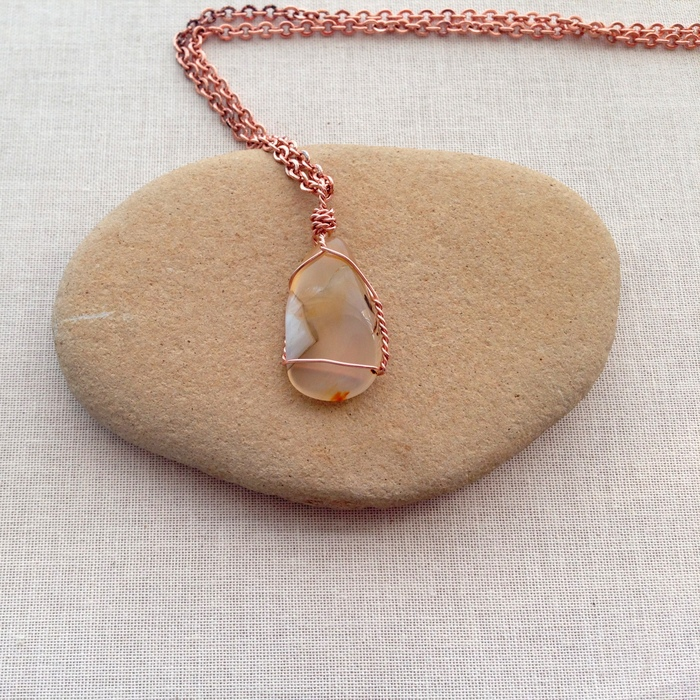 Lisa Yangs Jewelry Blog Two Ways To Wire Wrap Undrilled Stone Pendants