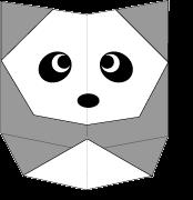 cara membuat origami panda