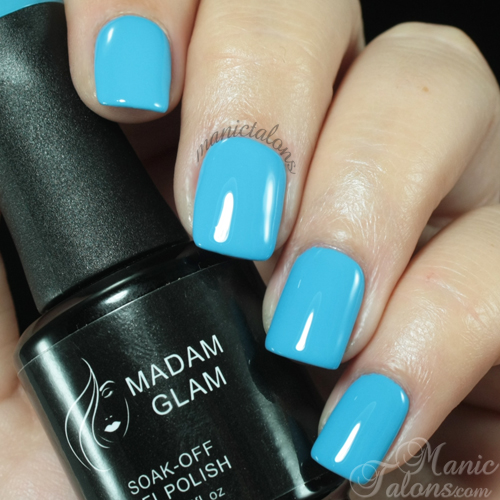 Madam Glam Gel Polish Aqua Blue Swatch