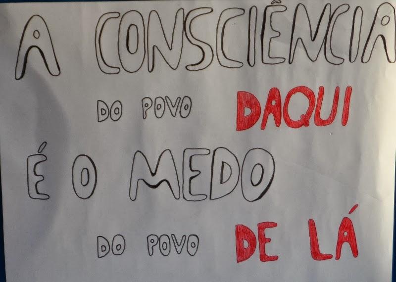 A consciência do povo...