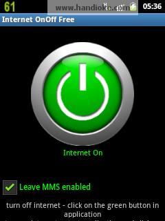 Internet OnOff - saat On