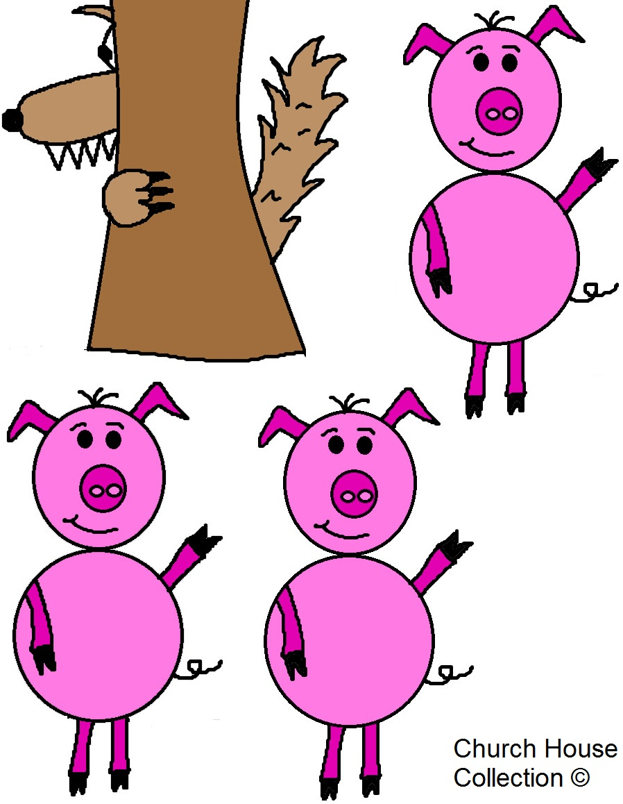 The three little pigs and the big bad wolf craft and lesson