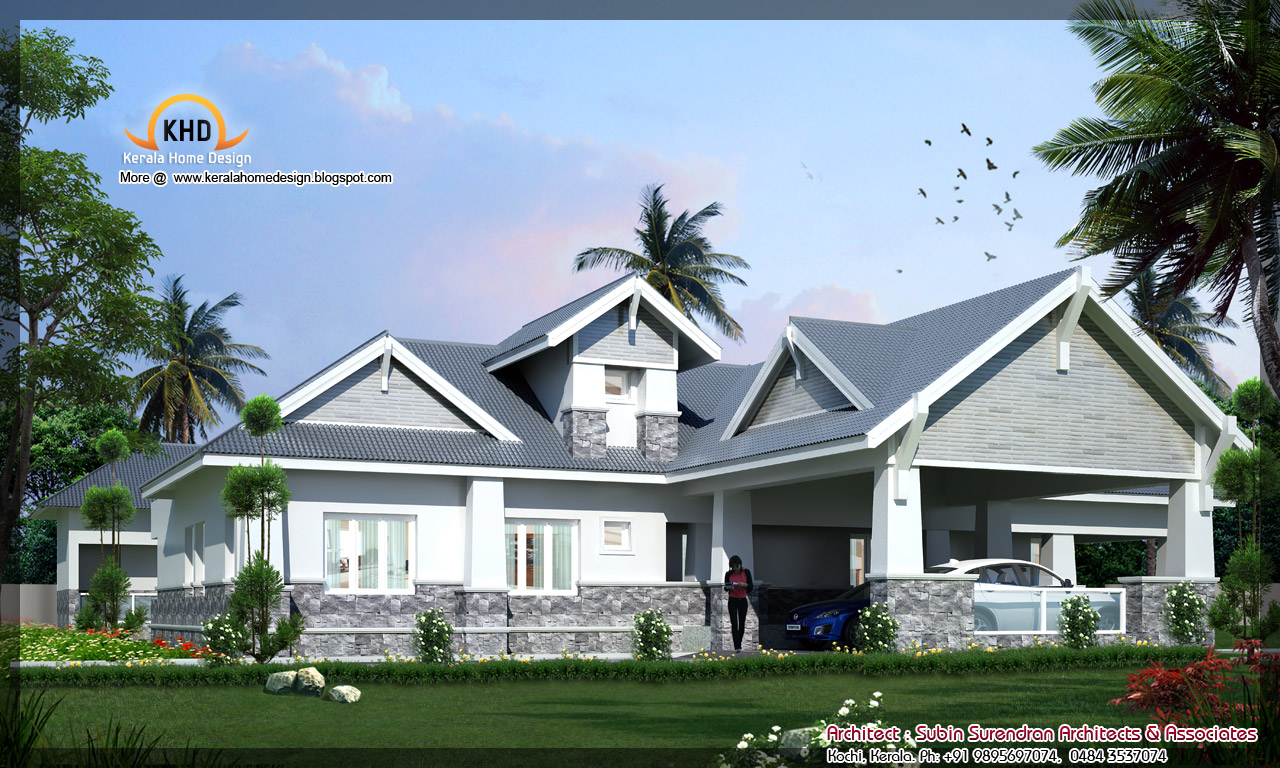 House elevation 6000 sq ft kerala home design and for 6000 square foot house plans