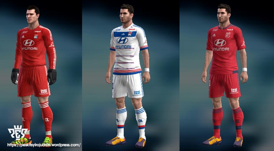 SANTARA PES: PES 2013 Olympique Lyonnais kits 15-16 by ...
