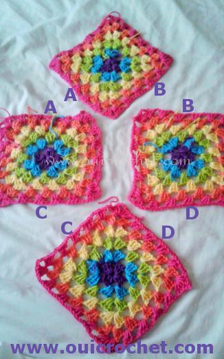 Oui Crochet Granny Square Poncho Size 12 18 Months Free Crochet