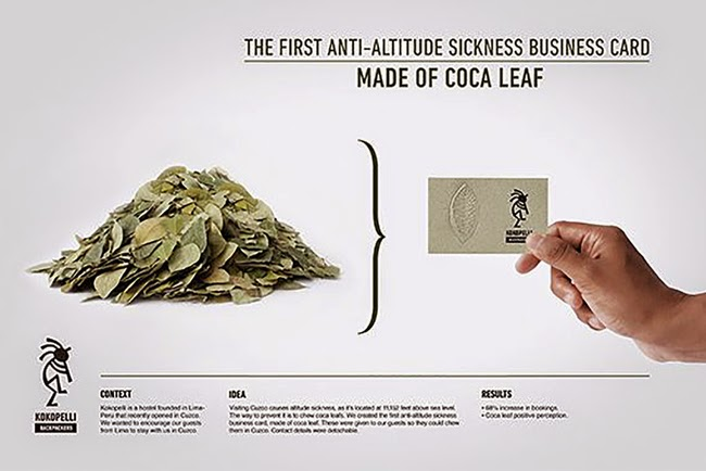 An Edible Business Card Made From Coca Leaf