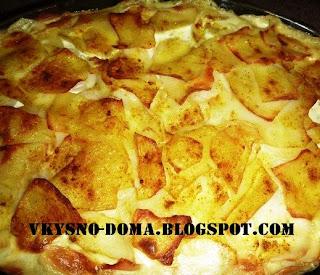 Картофель с карри в сливках. Финская кухня.