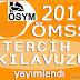 2014 ÖMSS Tercih Kılavuzu yayımlandı