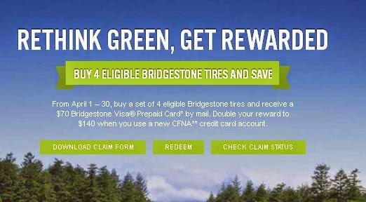 Bridgestone Tire Coupons Codes for October 2015