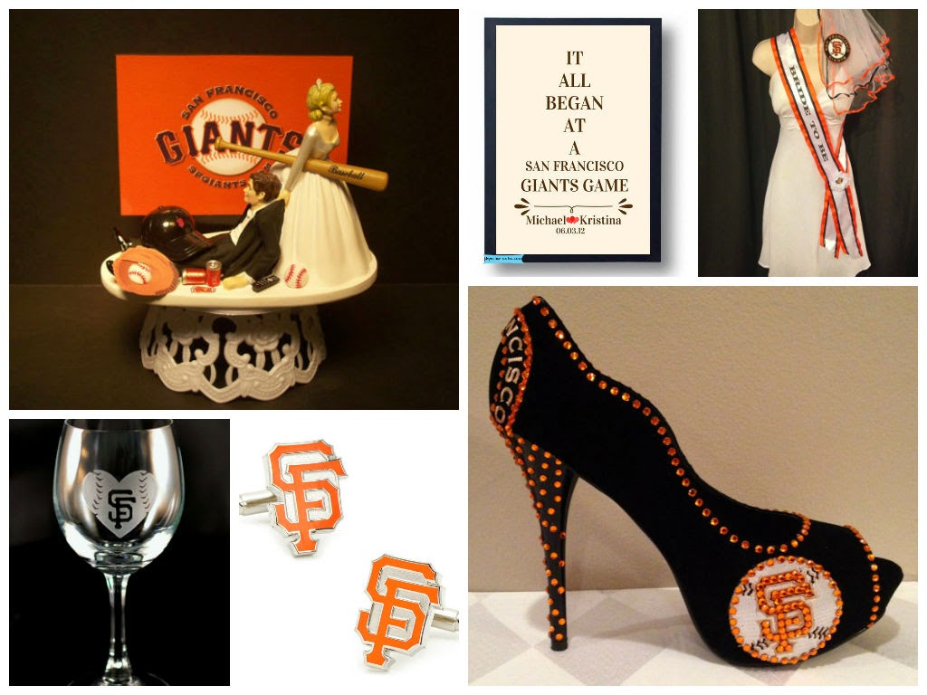 2014 World Series Champions San Francisco Giants Wedding Inspiration Board, curated by Sugarplum Garters