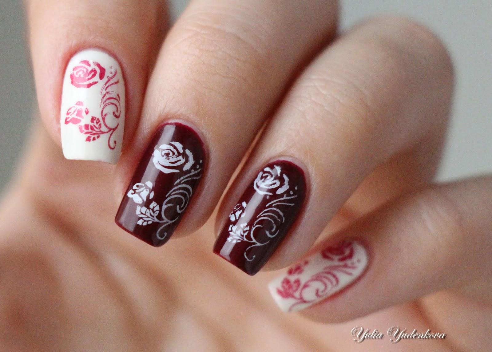 Чем рисовать розы на ногтях