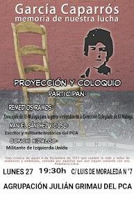 """Proyección y debate """"García Caparrós, memoria de nuestra lucha"""""""