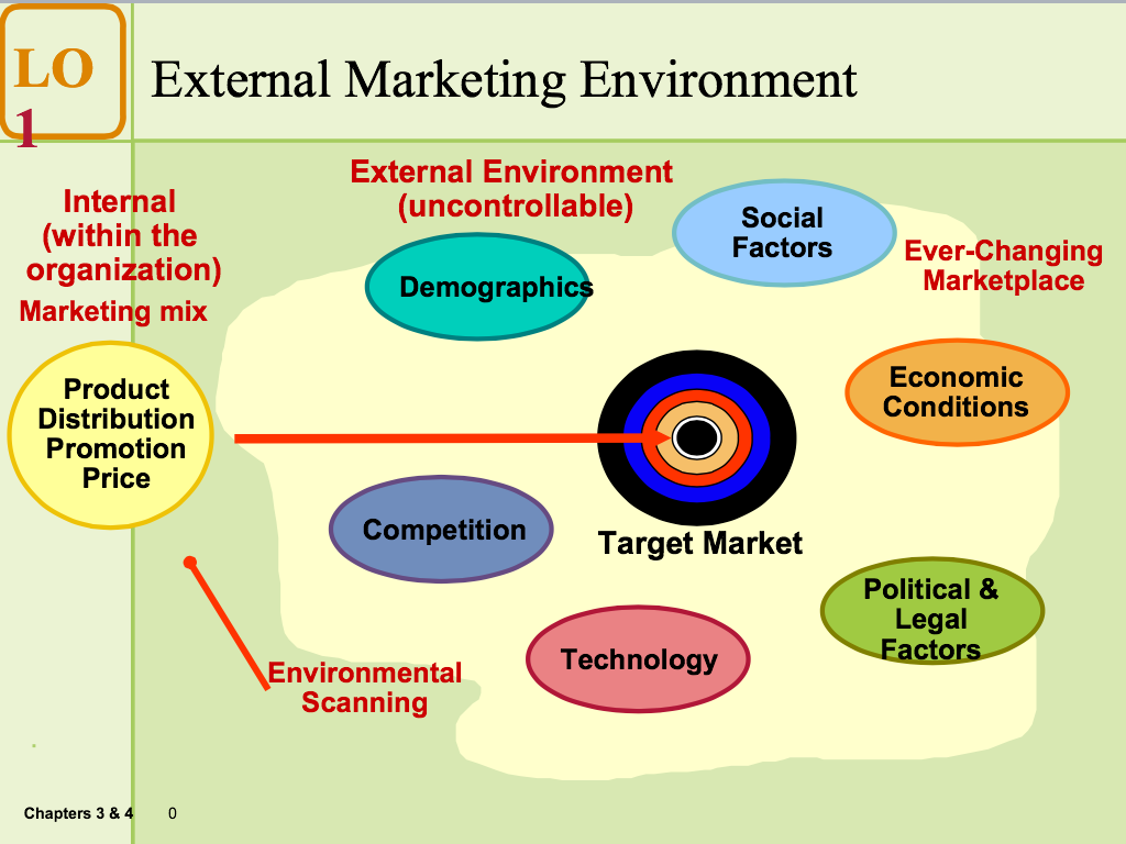 the external environment factor A host of external factors influence a firm's choice of direction and action and, ultimately, its organizational structure and internal processes these factors, which constitute the.