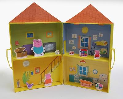 Casa de Peppa Pig 3D para Jugar. Para Imprimir Gratis.