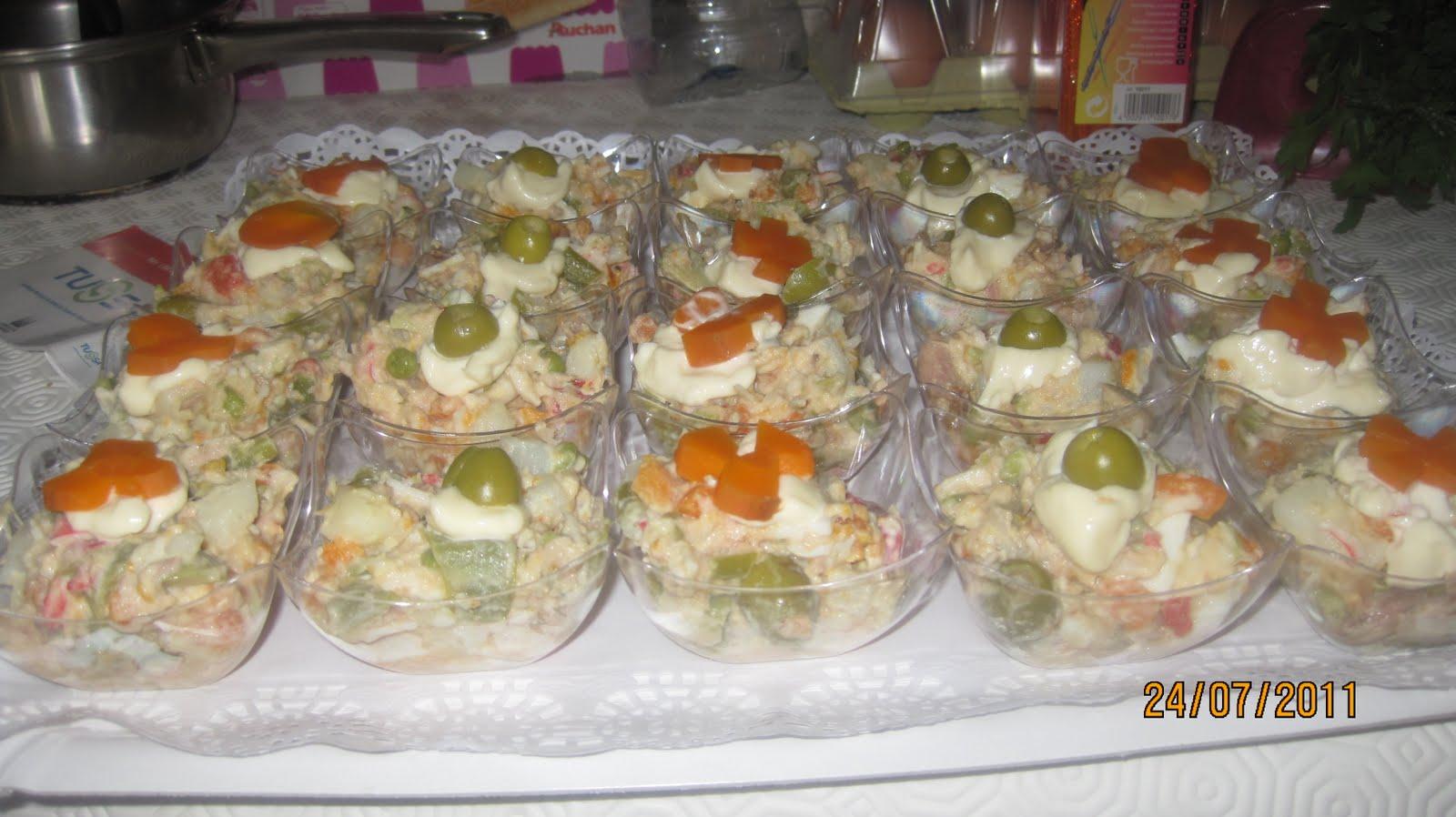 Recetas de cocina casera canapes de ensaladilla fiesta for Cocina para fiestas