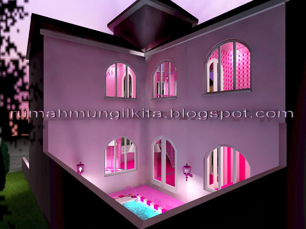 Real Barbie Dream House Castle, back side