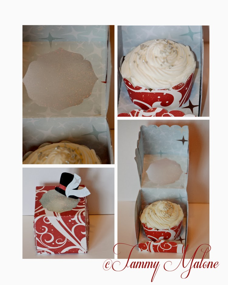 Silhouette Files, Samantha Walker, Christmas, Box, Cupcake, Snowman