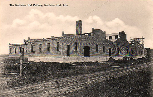 archival image of medalta potteries historic site in medicine hat alberta