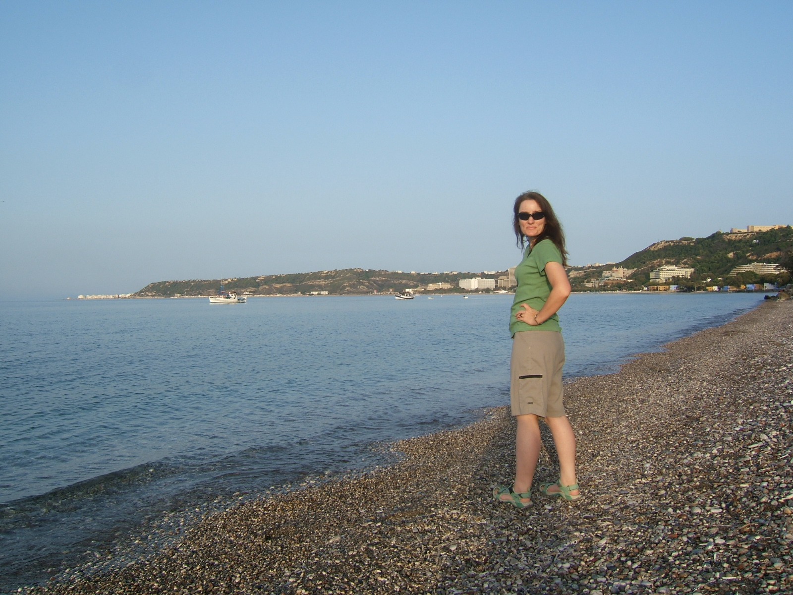 Walking along Avra beach, Rhodes, Greece. © 2008 Jeff Welter