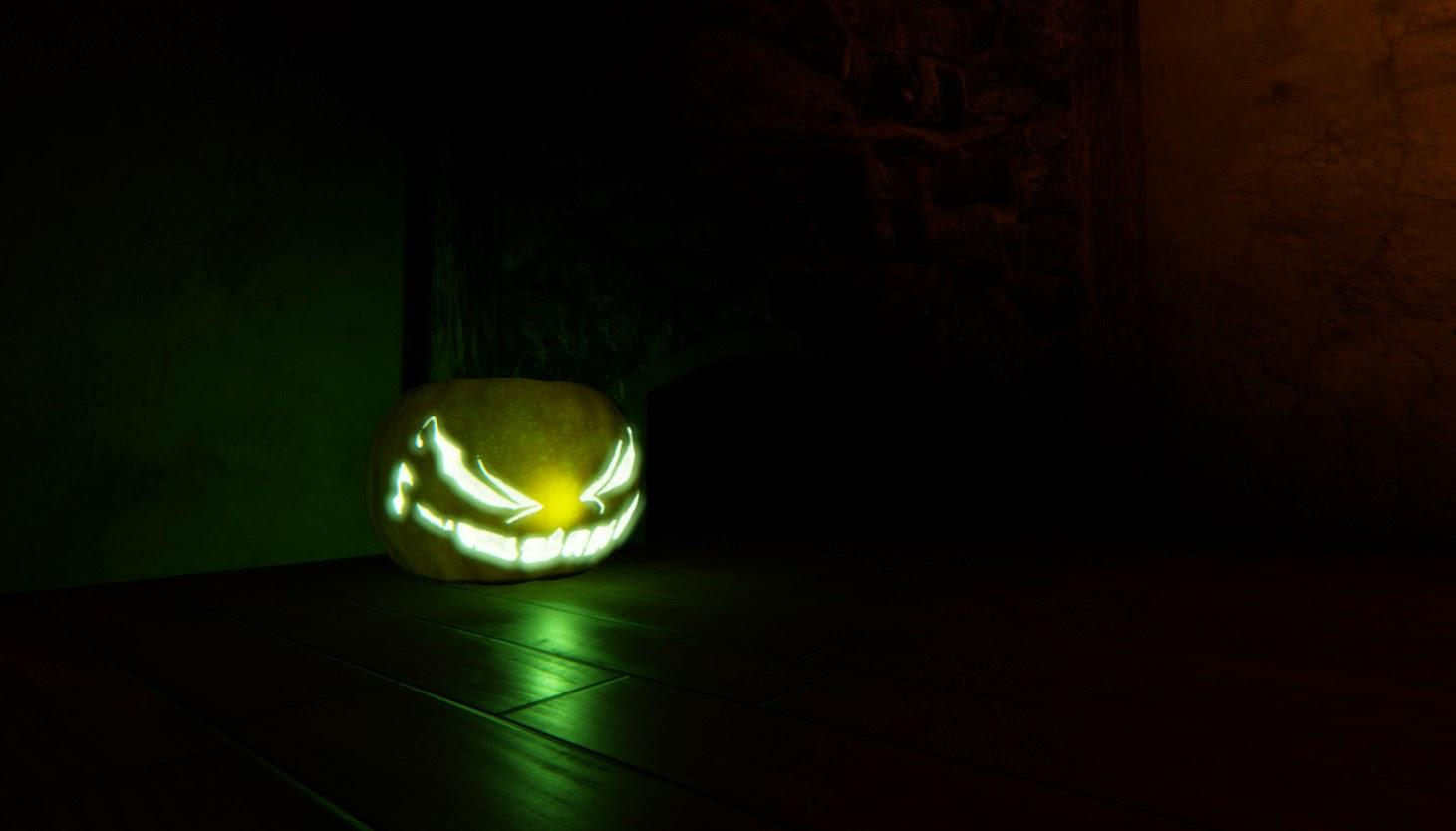 Pumpkin in the dark 2