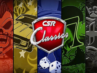 Screenshots of the CSR Classics for Android tablet, phone.