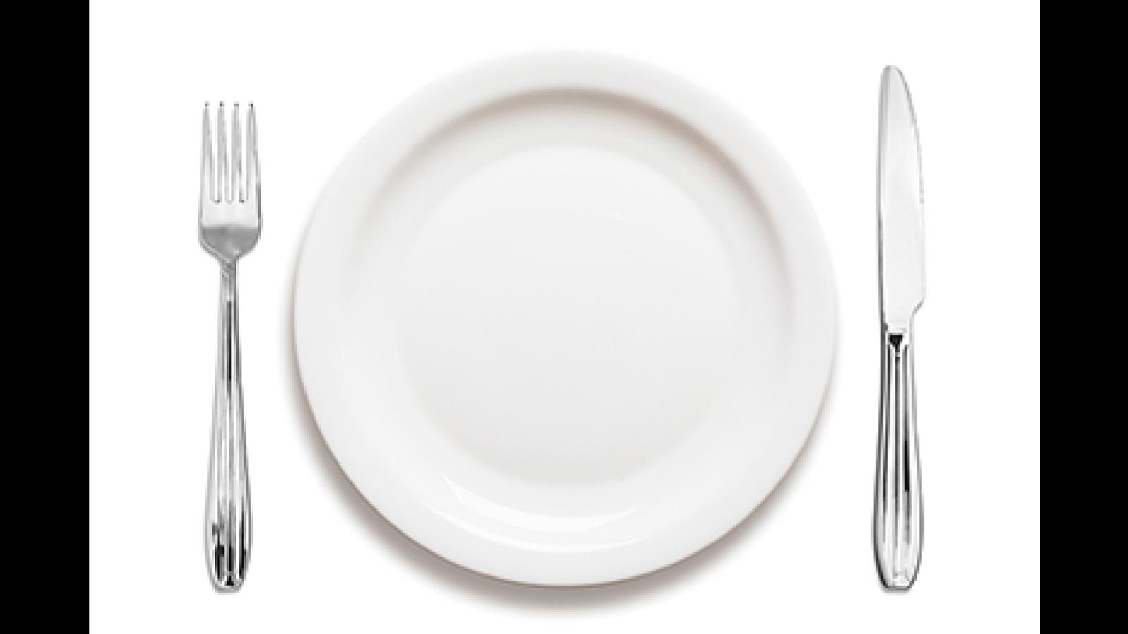 Marcos preimpresi n foto montaje platos con selecciones for Plato tenedor y cuchillo
