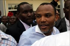 Nnamdi Kanu leaving the court